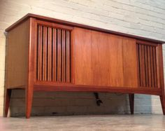 CLAIRTONE Mid-Century Modern Stereo Console - Radio / Record Player / TV-Media Stand -- Vintage Eames / Mad Men Era Record Player Console, Radio Record Player, Radios, Vintage Stereo Console, Tv Media Stands, Stereo Cabinet, Vintage Television, Home Inc, Vintage Marketplace