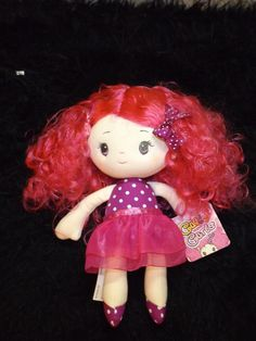 new Aurora Cutie Curls magenta hair Sofia soft doll toys dolls for 1 year and up #Aurora