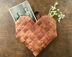 Swedish birch bark heart
