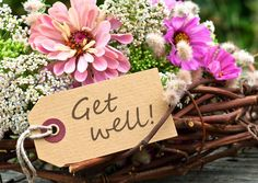Get well with flowers | Gute Besserung | Echte Postkarten online versenden | MyPostcard.com
