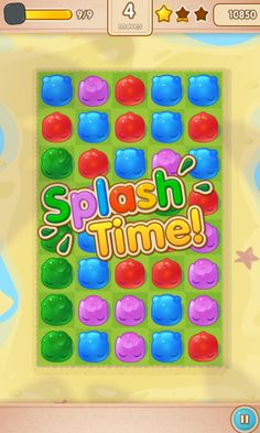 Jelly Splash by Wooga - Win Bonus Round  - Match 3 Game - iOS Game - Android Game - UI - Game Interface - Game HUD - Game Art