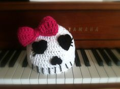 Girly Skull Beanie by BeesCrochet on Etsy, $20.00