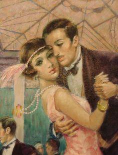 """Au milieu jusqu'à la fin des années 1940, le tango était à son apogée. Dans la pièce, Estelle parlait de son amant qui """"dansait le tango comme un professionnel"""" (Sartre 60)."""