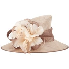 John Lewis Neave Structured Feather Hat , Natural ($145) ❤ liked on Polyvore