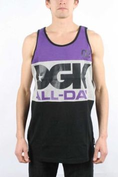 fb8d50aaa914b9 DGK - All Day Sport Tank Top in Purple  29.95