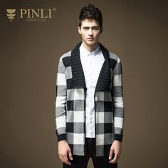 >> Click to Buy << 2017 Limited Single No Full Pullover Men Pinli Pinly New Spring Men's Fashion Cardigan Sweater Knitted Plaid Male B16331721  #Affiliate