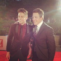 Home and Away's River Boys scrubbed up alright. | 30 Instagrams That Take You Behind The Scenes At The Logies