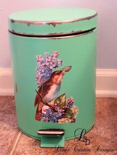 Waste Basket Redo DIY Home Decor amp Improvements