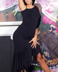 Chrisanne Asymmetric Latin Dance Dress | Dancesport Fashion @ DanceShopper.com