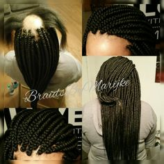 My Client suffers from Alopecia but you CANNOT tell! Box Braids Hairstyles, Natural Afro Hairstyles, Natural Hair Styles, Short Hair Styles, Braids For Thin Hair, Big Box Braids, Braids With Weave, Beautiful Braids, Gorgeous Hair