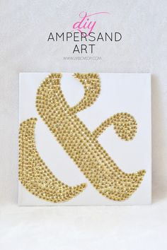 How to make DIY ampersand art using thumbtacks! LOVE this!