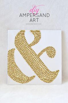 How to make DIY ampersand art using thumbtacks! LOVE this!