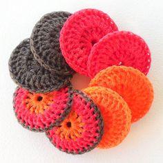 Crocheted Nylon Dish Scrubbies  Fall Foliage by ArtistBeeBee, $16.00