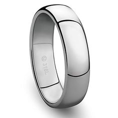 6MM Jewelry Grade Stainless Steel Ring Classic Wedding Band with Polished Finish -- Be sure to check out this awesome product. (This is an affiliate link) #MenWeddingRings