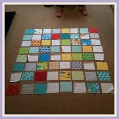 Step by step quilt.