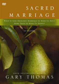"""Sacred Marriage by Gary Thomas. One of our FAVE marriage books. """"What if God designed marriage to make us holy more than to make us happy?"""" Whoa."""