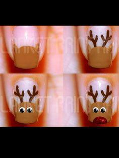 Easy holiday nail art