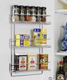 3 Tier Wall Mounted Spice Rack - http://spicegrinder.biz/3-tier-wall-mounted-spice-rack/