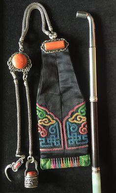 Mongolian tobacco set. 19th c