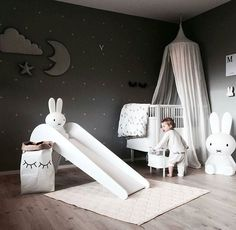 A cute kid's room | Miffy lamp available at www.istome.co.uk http://amzn.to/2luqmxj http://amzn.to/2saMFZr