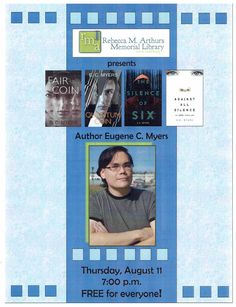 Come and hear author E.C.Myers at Arthurs Library, Thursday August 11 at 7 p.m.