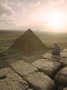 ♔ A view of the Pyramid of Chephren ~ Giza ~ Egypt