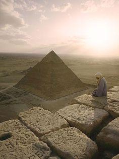 ♔ A view of the Pyramid of Chephren ~ Giza ~ Egypt