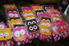 Cute Owl themed party favour