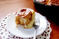 Cinnamon Rolls.- Easy, No Yeast, Just Buttermilk (b/c you always need 1 more thing to make to finish off that carton you bought for a recipe.)