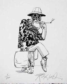 Ralph Steadman 'HST' Sketch