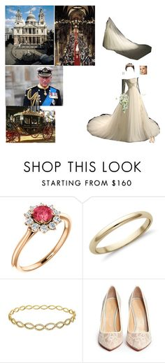 """""""Religious Wedding"""" by iret14 ❤ liked on Polyvore featuring Blue Nile, Irene Neuwirth, Charlotte Olympia and TIARA"""