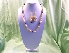 Valentines Day gift for her Handmade beaded by BeadCharmers, $25.00  Rhodochrosite, Mother of Pearl, and Lapis Lazuli Beauty!