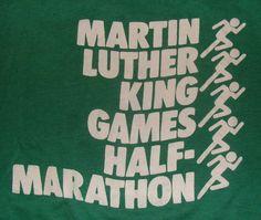 Vintage 80s Martin Luther King Games Half by vintageteesonline, $24.99