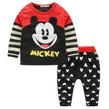 Christmas red Infants baby clothing boys tracksuits cartoon stripe t-shirt+ pants 2pcs kids boy clothes Children clothing set(China (Mainland))