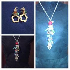 Crystals quartz Necklace with earrings. Tu jardín de cristal  #bybeyoubechic #armony #sharms #cuarzos #gemstones #energiapositiva #jades #ópalo #turmalina #armony #handmade #exclusive #onlyhere #torquoise #earrings #peace