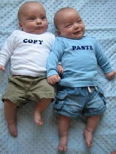 Such a cute idea! If twins were involved.. haha. http://lavieenrosie.typepad.com/lavieenrosie/2011/05/copypaste.html