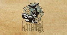 El Tiburon Logo- Cool lettering and graphic style