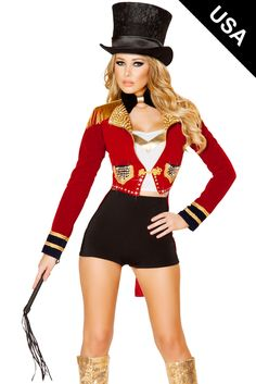 Show your power of entertaining by donning this sexy 6 Piece Flirty Circus  Leader costume. ebd2a3285ff6