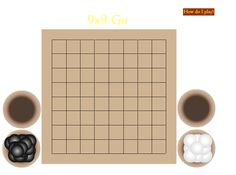 Chinese board game Go.  Drag the stones to the intersections.  Find out how to play.