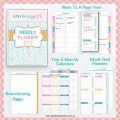 Easy Breezy Life Weekly Planner 2014