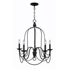 Manor Brook Ansley 5 Light Oil Rubbed Bronze Chandelier With Silver Highlights MB12127 At The