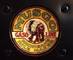 "Retro ""Musgo"" Night Light Gas, Oil advertisement! Vintage & Finely Upcycled!"