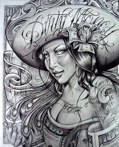 Photo by Mike Gutierrez Chicano Tattoos Sleeve, Best Sleeve Tattoos, Star Tattoos, Body Art Tattoos, Evil Tattoos, Badass Tattoos, Prison Drawings, Gangster Drawings, Chicano Drawings