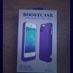 Boostcase detachable power case iPhone 5 / 5s NEW! Boostcase detachable power case for iPhone 5 / 5s! Up to 80% more battery life. New in box! Boostcase Accessories Phone Cases