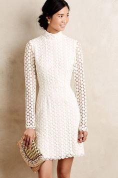 Adalet Lace Shift by Korovilas getaway wedding dress. wedding reception dress. #anthroregistry