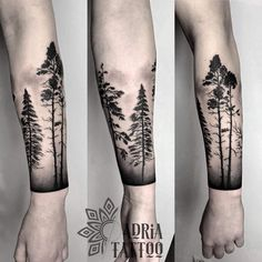 new Ideas for pine tree tattoo traditional - new Ideas for pine tree tattoo traditional Forest Tattoo Sleeve, Forest Forearm Tattoo, Tree Tattoo Arm, Forearm Band Tattoos, Nature Tattoo Sleeve, Forearm Tattoo Design, Body Art Tattoos, Hand Tattoos, Classy Tattoos For Women
