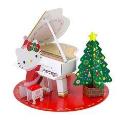Hello Kitty Grand Piano Christmas Melody Pop Up Greeting Card /16 X'mas Melodies #HelloKitty #Sanrio #BabyGrandPiano #Christmas