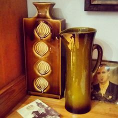 Czechosłowacja i Francja. Wazon i dzban. Ceramika.   #gladys #vallauris #ceramika #keramik #pottery #vase#wazon #czechoslovakia