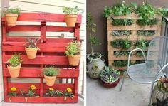 Pallet Designs, Planter Pots, Cool Stuff, Garden, Flowers, Plants, Google, Home, Diy Ideas