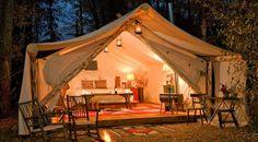 Enjoy a bonfire and sleep under the stars at this Jackson Hole resort.